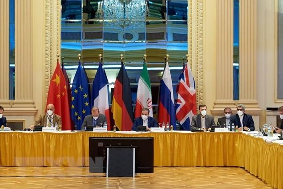 Các đại biểu tham dự vòng đàm phán thứ 6 về việc khôi phục thỏa thuận hạt nhân Iran tại thủ đô Vienna, Áo ngày 12-6-2021. Ảnh: THX/TTXVN