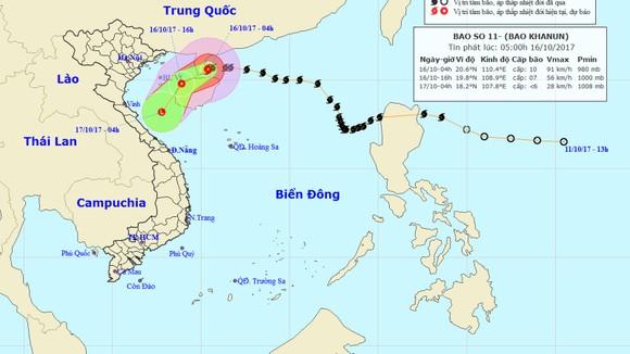 Trong 12 giờ tới, bão số 11 tiếp tục suy yếu dần thành áp thấp nhiệt đới ảnh 1
