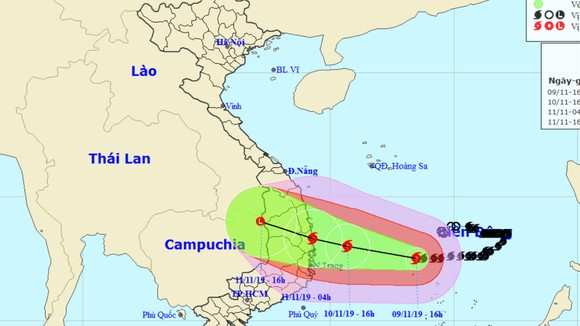 Từ chiều tối 10-11, trên đất liền các tỉnh Quảng Ngãi - Khánh Hòa có gió giật cấp 12 ảnh 1
