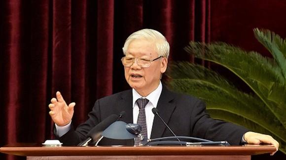 Tổng Bí thư, Chủ tịch nước Nguyễn Phú Trọng phát biểu bế mạc Hội nghị. Ảnh: VGP