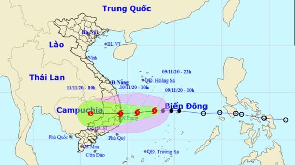 Bão số 12 đi vào đất liền các tỉnh từ Bình Định đến Ninh Thuận ảnh 1