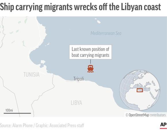 130 người di cư thiệt mạng trong vụ đắm tàu ở Libya  ảnh 3