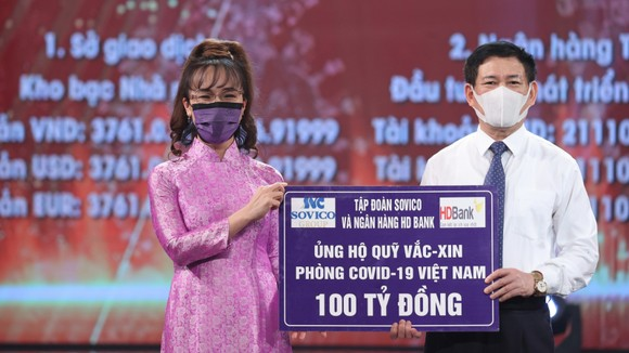 Doanh nghiệp của nữ tỷ phú Phương Thảo ủng hộ Quỹ Vaccine phòng, chống Covid-19 số tiền 100 tỷ đồng