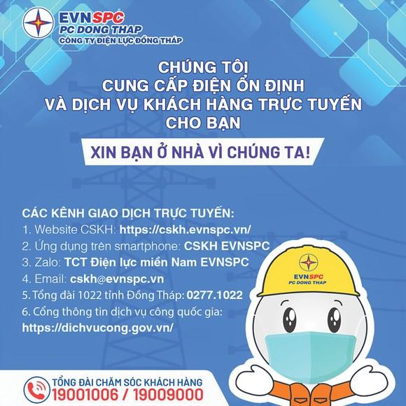 Tổng Công ty Điện lực miền Nam (EVNSPC): Khuyến khích khách hàng sử dụng dịch vụ trực tuyến trong thời gian giãn cách xã hội ảnh 3