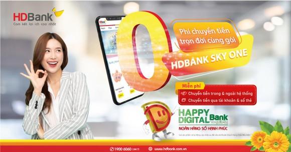 Miễn phí chuyển tiền không giới hạn cùng gói HDBank Sky One