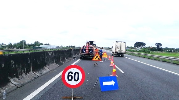 Thi công sửa chữa tuyến đường bộ cao tốc TPHCM - Trung Lương từ ngày 9-9-2021 đến ngày 15-12-2021