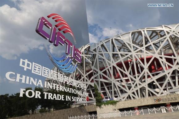 Hội chợ Thương mại Dịch vụ Quốc tế Trung Quốc (CIFTIS) tại Bắc Kinh được tổ chức từ ngày 04-09/09. (Ảnh: Tân Hoa Xã)