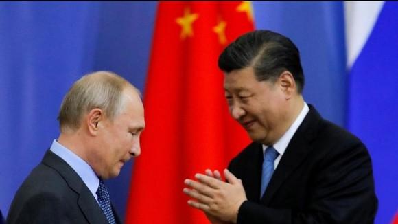 Ông Putin và ông Tập Cận Bình - ảnh tư liệu South China Morning Post.