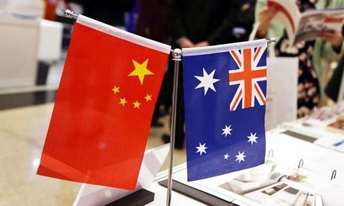Trung Quốc là đối tác thương mại hai chiều lớn nhất của Australia về hàng hóa và dịch vụ, giá trị thương mại hai chiều đạt 252 tỷ USD vào năm 2019. Nguồn ảnh: globaltimes.cn