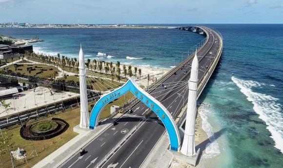 Cầu vượt biển Sinamale, biểu tượng của mối quan hệ Trung Quốc-Maldives. Nguồn ảnh: chinadaily.com.cn