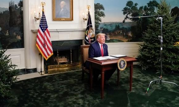 Ông Donald Trump tại Nhà Trắng vào ngày 26 tháng 11 năm 2020. Ảnh: Erin Scott / Reuters