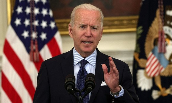Biden họp báo tại Nhà Trắng hôm 4/5. Ảnh: AFP.