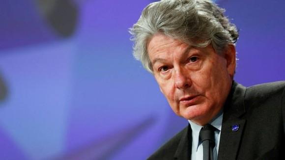 Thierry Breton, ủy viên EU phụ trách chính sách kỹ thuật số. © Reuters