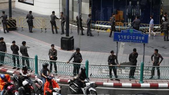 Cảnh sát Thái Lan siết chặt an ninh tại Bangkok.