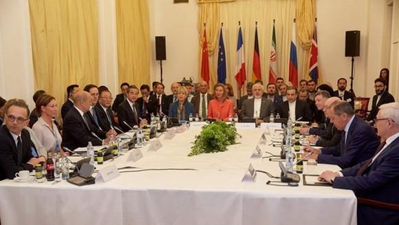 Toàn cảnh một hội nghị Ngoại trưởng các bên trong thỏa thuận JCPOA với Iran tại Vienna, Áo ngày 6/7. (Nguồn: THX/TTXVN)