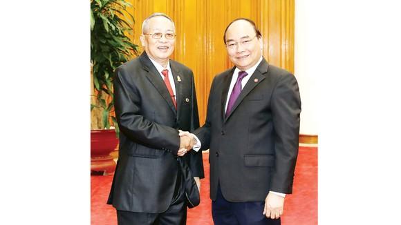 Thủ tướng Nguyễn Xuân Phúc tiếp Phó Chủ tịch thứ nhất Thượng viện Vương quốc Campuchia Nay Pena