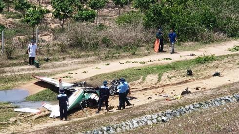 Máy bay quân sự Yak-52 gặp nạn. Ảnh: Báo Khánh Hòa