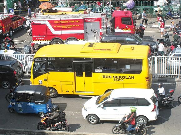 Giao thông bế tắc tại thủ đô Jakarta hiện nay