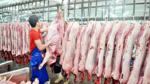 Đối với mặt hàng thịt heo, giá bán chung trên thị trường vẫn ổn định