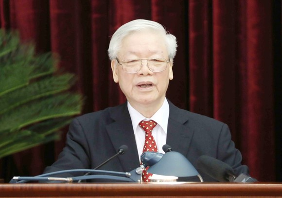 Tổng Bí thư, Chủ tịch nước Nguyễn Phú Trọng phát biểu khai mạc hội nghị