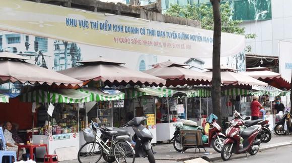 Khu vực thí điểm kinh doanh có thời gian ở đường Nguyễn Văn Chiêm, quận 1