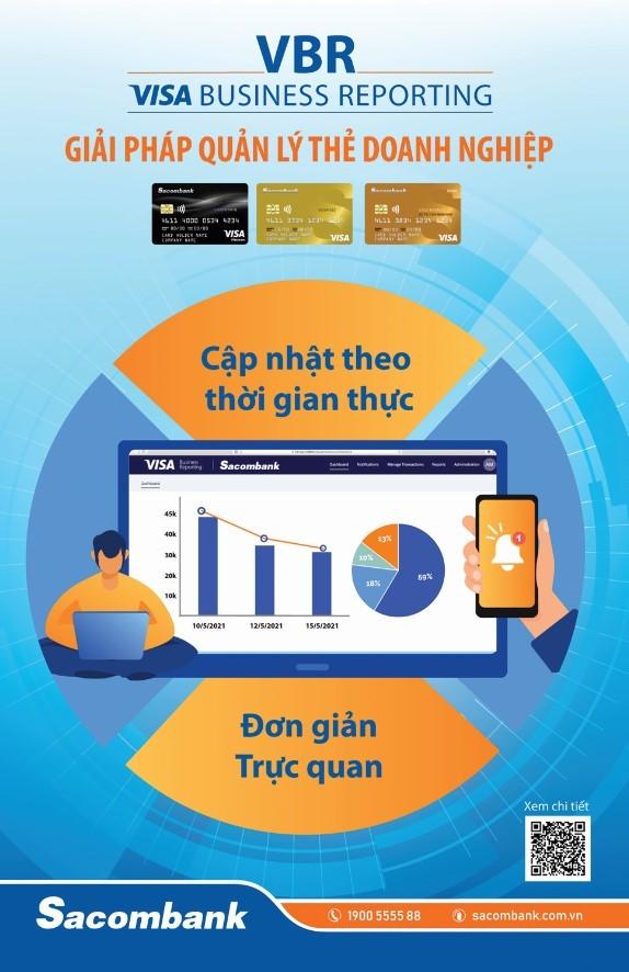 Visa hợp tác Sacombank ra mắt Giải pháp Báo cáo chi tiêu