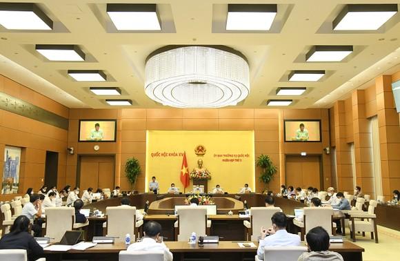 Ủy ban Thường vụ Quốc hội cho ý kiến về dự án Luật sửa đổi, bổ sung Phụ lục – Danh mục chỉ tiêu thống kê quốc gia của Luật Thống kê. Ảnh: Quochoi.vn