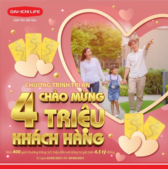 """Dai-ichi Life Việt Nam triển khai chương trình tri ân """"Chào mừng 4 triệu Khách hàng"""""""