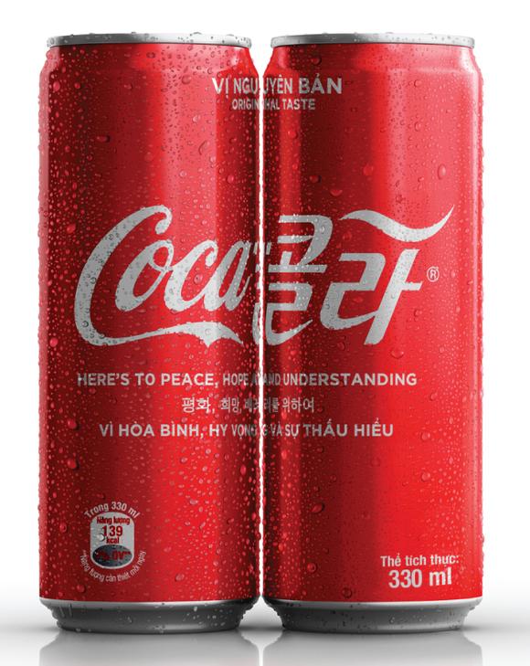 Ra mắt phiên bản lon Coca-Cola đặc biệt cùng thông điệp kết nối hòa bình