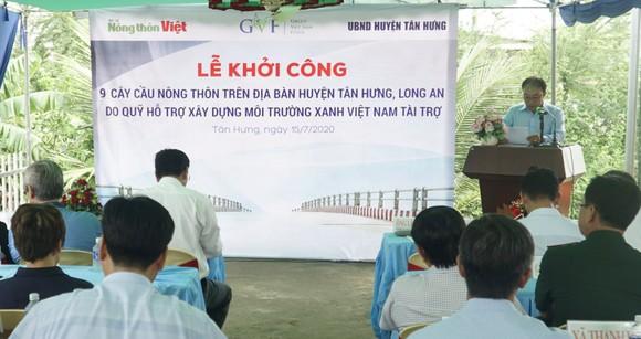 Khởi công xây dựng 9 cây cầu giao thông nông thôn tại huyện biên giới Tân Hưng, Long An ảnh 1