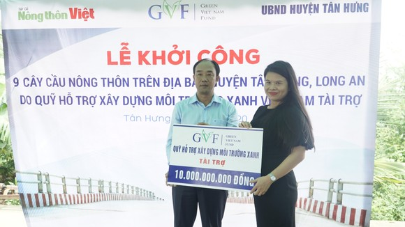 Khởi công xây dựng 9 cây cầu giao thông nông thôn tại huyện biên giới Tân Hưng, Long An ảnh 2