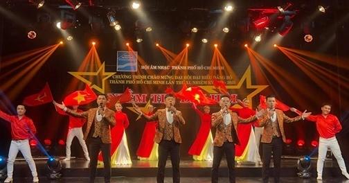 Chương trình giới thiệu đến khán giả các ca khúc tiêu biểu được Hội Âm nhạc TPHCM đầu tư sáng tạo trong năm 2019: Ảnh: Hội Âm nhạc TPHCM
