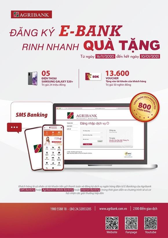 Cùng Agribank đăng ký E-Bank - rinh nhanh quà tặng