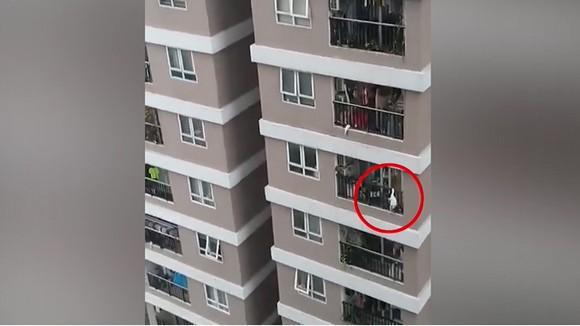Chung cư nơi xảy ra vụ việc. Ảnh cắt từ clip
