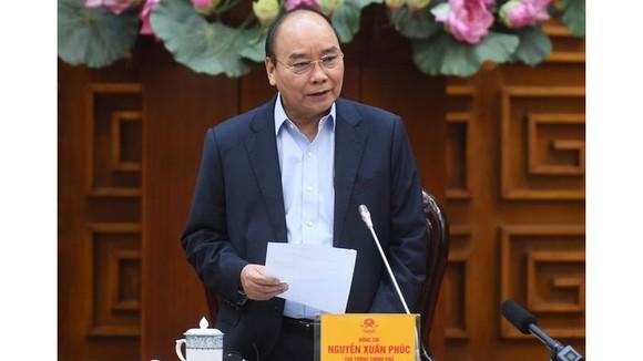 Thủ tướng Nguyễn Xuân Phúc chủ trì cuộc họp. Ảnh: VGP