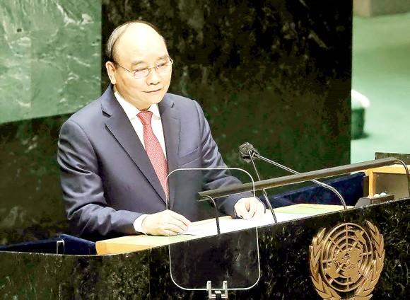 Phát biểu trước ĐHĐ LHQ khóa 76, Chủ tịch nước Nguyễn Xuân Phúc: Việt Nam chung nhịp đập sẻ chia, yêu thương, hợp tác với thế giới ảnh 1