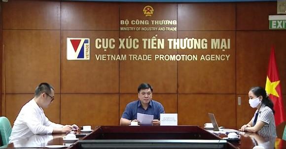 Hội nghị Giao thương trực tuyến XTTM và hợp tác giữa doanh nghiệp Việt Nam - Chile. Ảnh: CXT