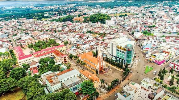 Một góc khu trung tâm TP Long Khánh.