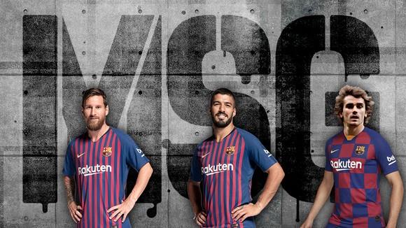 Lionel Messi, Luis Suarez và Antoine Griezmann