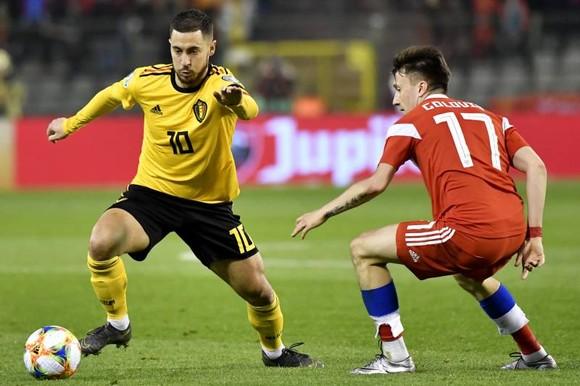 Eden hazard khi cú đụp giúp Bỉ hạ gục tuyển Nga