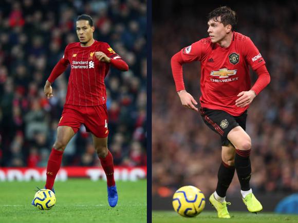 Van Dijk (Liverpool) và Victor Lindelof (Man United)