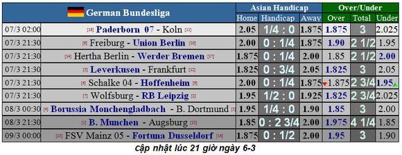 Lịch thi đấu Bundesliga, vòng 25: Hùm xám thừa cơ tăng tốc ảnh 1