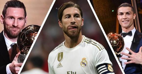 Sergio Ramos cạnh tranh với Messi và Ronaldo