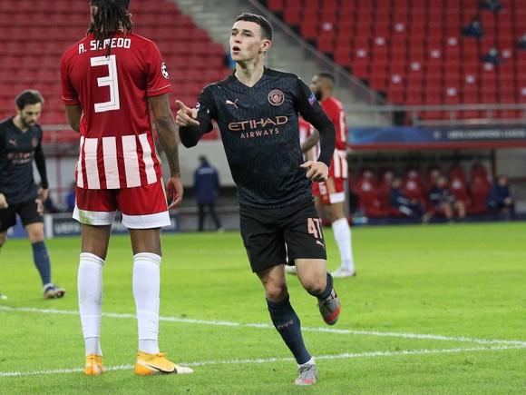 Phil Foden ghi bàn thắng quyết định trước Olympiacos