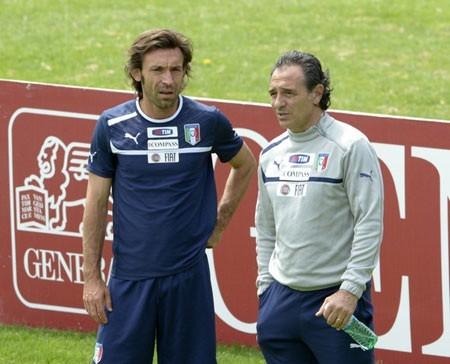 Cesare Prandelli và Andre Pirlo