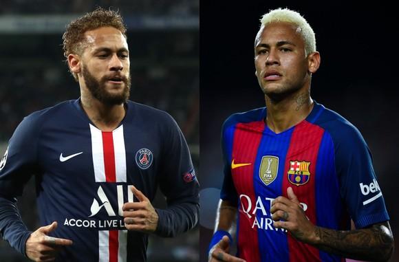 Neymar ở PSG và ở Barcelona