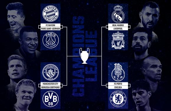 Bốc thăm vòng tứ kết Champions League: Bayern so tài PSG, Real Madrid gặp lại Liverpool ảnh 1