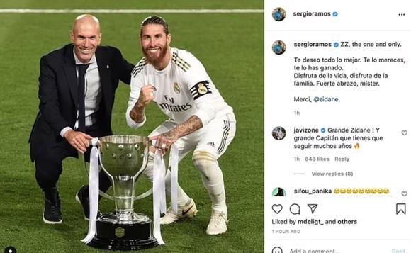 Sergio Ramos cùng các sao Madrid nói lời từ biệt ông thầy Zinedine Zidane ảnh 2