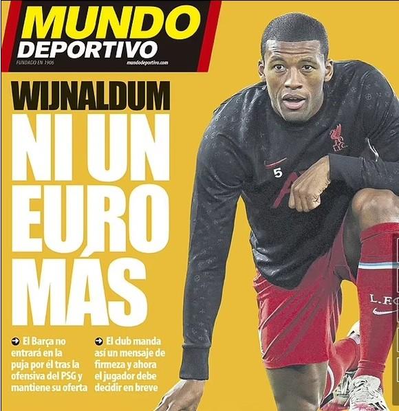 PSG đánh bại Barcelona, trả mức lương gấp đôi để giành chữ ký Wijnaldum ảnh 1