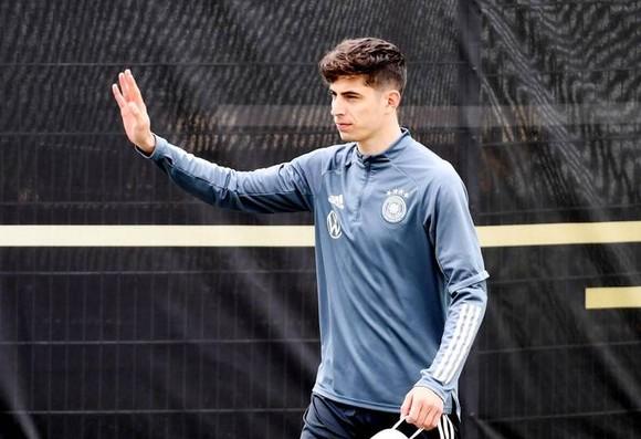 Tiền vệ Kai Havertz trong màu áo tuyển Đức